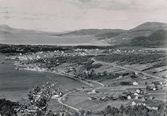 Fauske Nordland fylke  flyfoto stp 1954 Foto: Mittet