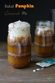 Caramel Pumpkin Pie in a Jar   Community Post: 27 Vegan Thanksgiving Dishes That Will Make Meat Eaters Drool