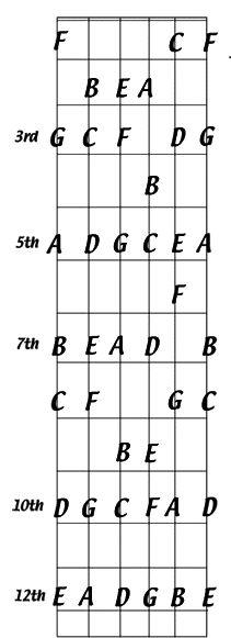 4 способа выучить ноты на грифе гитары - GuitarLine.Ru