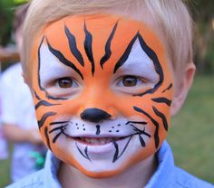 kinderschminken jungen motive tiger make-up