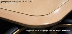 Maryland Executive Conference Table in Light Maple. Corner view. See the lovely solid wood beveled edge