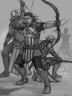 Weekly Patreon sketch, featuring Nathaniel Howe, with bonus Anders, Surana and a popsicle Darkspawn. :P
