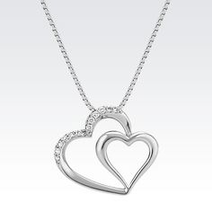 One heart holding another makes this pendant the perfect Valentine's Day gift. #ValentinesDay