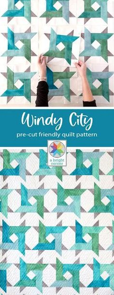 Windy City pattern by Andy of A Bright Corner is a modern twist on a star quilt. Pre-cut friendly and perfect for using jelly roll strips, layer cake squares, fat quarters, or yardage. Has four size: crib, throw, twin, queen | Fabric: Shabby Basics by Lori Holt for Riley Blake Designs Jelly Roll Quilt Patterns, Star Quilt Patterns, Modern Quilt Patterns, Easy Sewing Patterns, Easy Sewing Projects, Sewing Projects For Beginners, Sewing Tips, Layer Cake Quilts, Fat Quarter Quilt