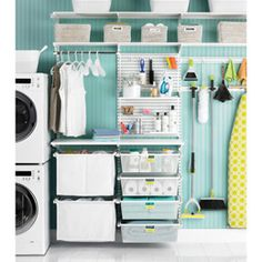 The Container Store  White elfa utility Deluxe Laundry Room
