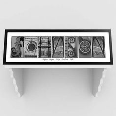 Buy Architectural Elements III Black and White Family Name Prints - White Border. Gifts & Baskets - Architectural Elements III Black and White Family Name Prints - White Border. Architectural Elements III Black and White Family Name Prints - White BorderD Family Name Art, Family Name Signs, Family Room, Architecture Names, Architecture Photo, Personalised Gifts For Him, Personalized Wall Art, Personalized Wedding, Personalized Items