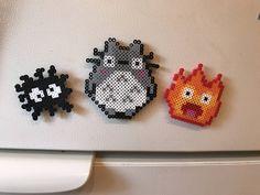 Studio Ghibli Perler Bead Magnet Set