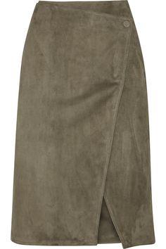 JASON WU Suede Wrap Skirt. #jasonwu #cloth #skirt