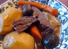Pot Roast. My mother's 1930s Recipe adapted for the slow cooker.