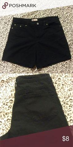 "Black jean shorts Size 12. 32""waist. Faded Glory brand. Shorts Jean Shorts"