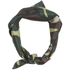 Amazon.com: Green Camo Bandana: Clothing ($1.62) ❤ liked on Polyvore featuring accessories, camo bandana, camouflage bandana and green bandana