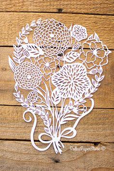 Bouquet de fleurs de papier taille-douce par PolkaPaperStore