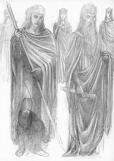 """Alan Lee, """"Minas Tirith"""",The Lord of the Rings Sketchbook"""