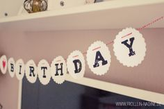 happy birthday girlande freebie