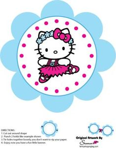 Banner, Hello Kitty, Party Decorations - Free Printable Ideas from Family Shoppingbag.com