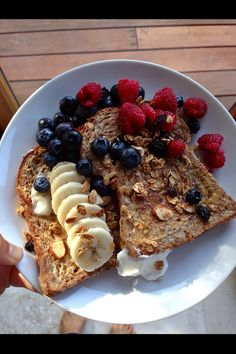 Healthy and yummy breakfast fit for any day of the week! , Healthy and yummy breakfast fit for any day of the week! Healthy and yummy breakfast fit for any day of the week! Think Food, I Love Food, Good Food, Yummy Food, Healthy Snacks, Healthy Eating, Healthy Recipes, Diet Recipes, Healthy Protein
