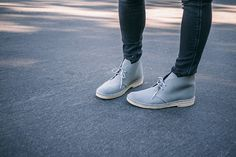 Desert Boots for the City | Wantering.com     So envious of these clean, rugged boots. Tommy of MYBELONGINGopting for a pair of desert bootsfor his city adventure. Get it here:    Clarks Suede Desert Boots
