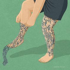 John Holcroft @johnholcroftillustration #johnholcroft #tattoo #picame #creativity #inspiration #art #artist #visualart #artwork #illustration #illustrator #editorialillustration #design #graphicdesign #drawing #painting #type #typography #vector