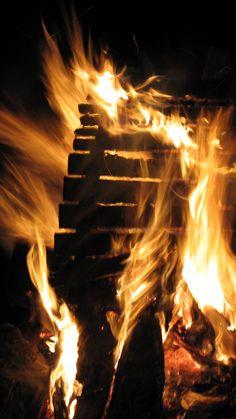 Around the campfire at Barrington River Organic Farm