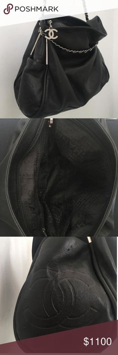 """✨BLACK FRIDAY SALE✨ CHANEL - Ultimate Large This super soft CHANEL is priced lower than usual because of two flaws - as shown in the photos there is one indentation mark (not a hole - just indented) and in the side a scuff mark.  Otherwise this bag is in amazing condition ☺️ Size: Length: 16"""", Height: 12"""", Depth: 6.5"""", Drop: 2.5"""" CHANEL Bags"""