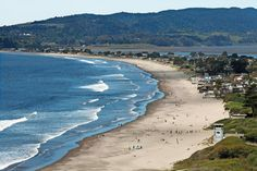 Marin County, California....Just south of Bolinas, Stinson Beach attracts a mellow crowd of surfers and sunbathers.