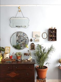 I want little plants like this allllll over! Maybe cacti where the sun doesn't shine, like in my cupboard with my makeup and stuff. <3