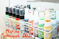 Misting Techniques Week from Paper Crafters Corner