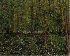 Vincent van Gogh Painting, Oil on Canvas Paris: Summer, 1887 Van Gogh Museum Amsterdam, The Netherlands, Europe F: 309a, JH: 1312 Image Only - Van Gogh: Trees and Undergrowth