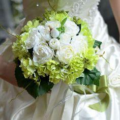 Artificielle Fleurs De The De Simulation De Soie Rose Hortensia Mariée Bouquets De Mariage Avec Des Fleurs