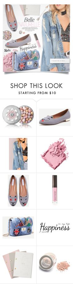 """SheIn Denim Style"" by lillili25 ❤ liked on Polyvore featuring Guerlain, Bobbi Brown Cosmetics, Laura Mercier, York Wallcoverings, StudioSarah and shein"