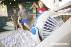 Keep your summer hangout spots feeling cool with the Arctic Cove Misting Fan! See how Ashley at The Handmade Home uses the fan for her family's summer adventures.