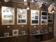 The new exhibition from Benji Davies, The Storm Whale, comes to The Bright Emporium Exhibition Display, Frame Display, Book Pages, Liquor Cabinet, Whale, Original Artwork, Photo Wall, Bright, Winter