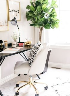The challenge then was how to create a space that would work for both my husband and me? Thus, the idea was born for a his and hers home office.