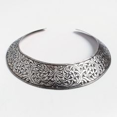 Colier statement Haveli, argint, India #metaphora #silverjewelry #silverjewellery #necklace #india #statement