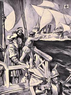 Vasco de Gama double la Cap de Bonne Espérance.