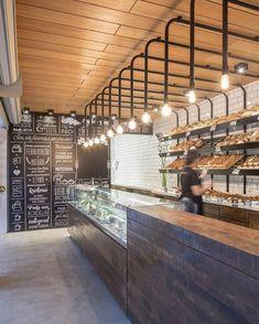 Kitchen Bar Cafe Spaces 68 Ideas For 2019 Pizzeria, Café Bar, Bakery Interior, Restaurant Interior Design, Bakery Design, Cafe Design, Counter Design, Coffee Shop Design, Cafe Shop