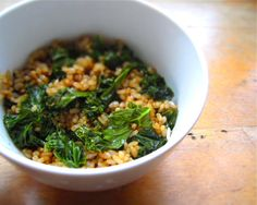 Gwyneth Paltrow Recipe: Green Rice (Fried Brown Rice w/ Kale). Very good! I added a carrot, egg and sesame seeds