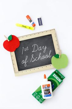 First Day of School Chalkboard - Easy and fun for home or school!