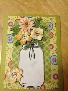 I made this get well card. CAN PICTURE THIS AS AN AUTUMN CARD WITH LEAVES.