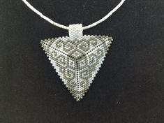 Two Tone Gray Scroll Triangle Choker by DoubleACreations on Etsy, $20.00