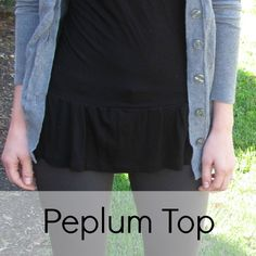 DIY Peplum top