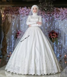 Muslim Wedding Gown, Muslim Wedding Dresses, Muslim Brides, Muslim Girls, Bridal Dresses, Wedding Gowns, Modest Fashion, Hijab Fashion, Blouse Dress