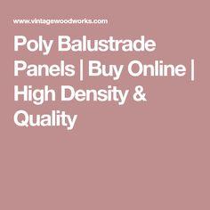 Poly Balustrade Panels   Buy Online   High Density & Quality