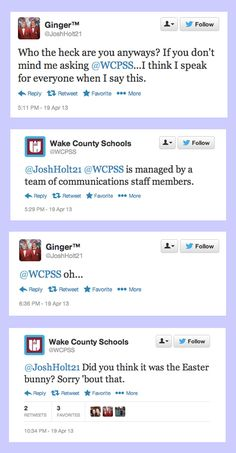 When Wake County Schools threw some shade at this student.   14 Times Brands Showed Their Sassy Side On Twitter