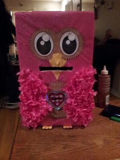 Owl valentine box :)