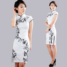 National Embroidered Cheongsam Black Vintage Chinese Style Formal Dress Summer Fashion Classical Qipao One-piece Women Dress Lovely Dresses, Sexy Dresses, Summer Dresses, Formal Dresses, Traditional Fashion, Traditional Dresses, Asian Fashion, Look Fashion, Costume Steampunk