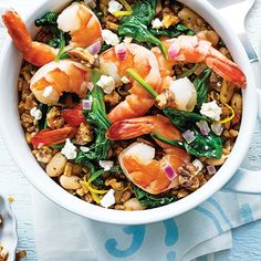 Mediterranean Shrimp & Farro Pilaf