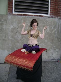 costume idea. ~Too fat for this but its still cute. I would prolly change it a little and be Jasmine from Aladdin~