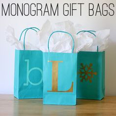 monogram gift bags | the handmade home