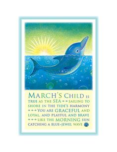 March's Child Print Dolphin by TreasuredAndTrue on Etsy, $24.00